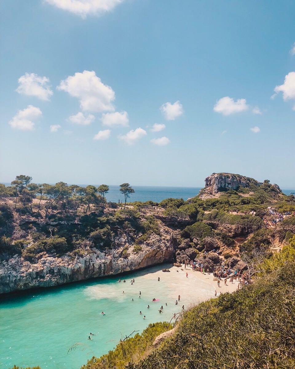 stranden van Mallorca Calo des moro